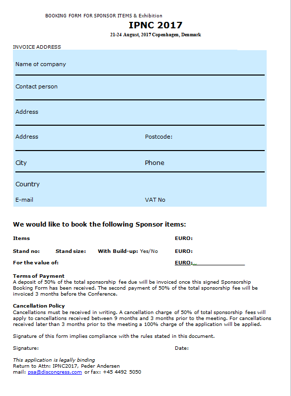 Forside Booking form